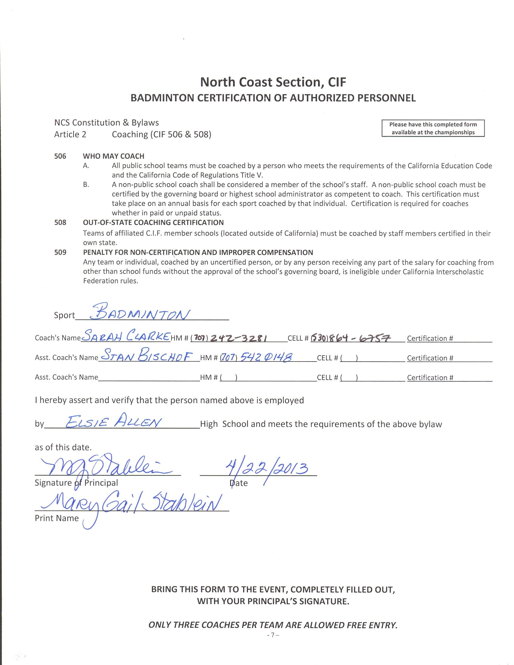 Stan bischof 2013 ncs coaching certifications xflitez Choice Image